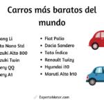 Carros más baratos del mundo